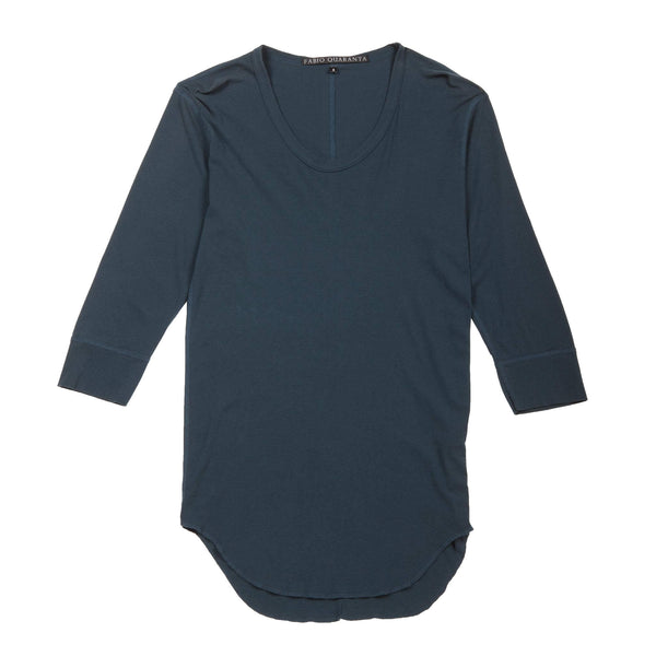 GARMENT-DYED U-NECK T-SHIRT