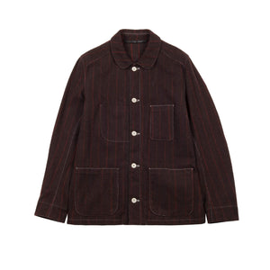 WOOL PINSTRIPE UNIFORM JACKET 1 of 1