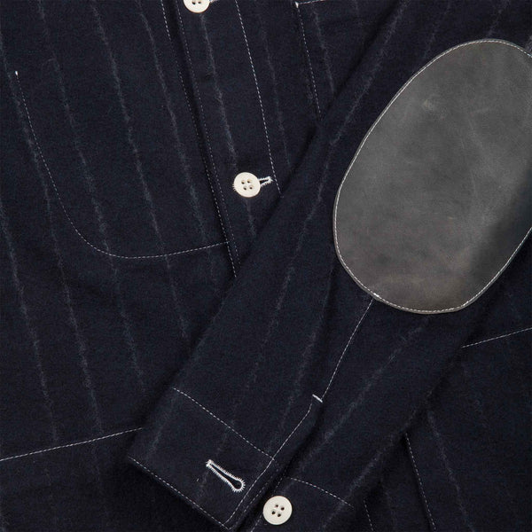 BLUE WOOL AND CASHMERE PINSTRIPE UNIFORM JACKET 1 of 1