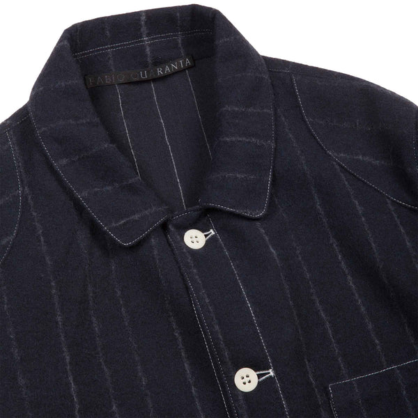 WOOL PINSTRIPE WORKER JACKET 1 of 1
