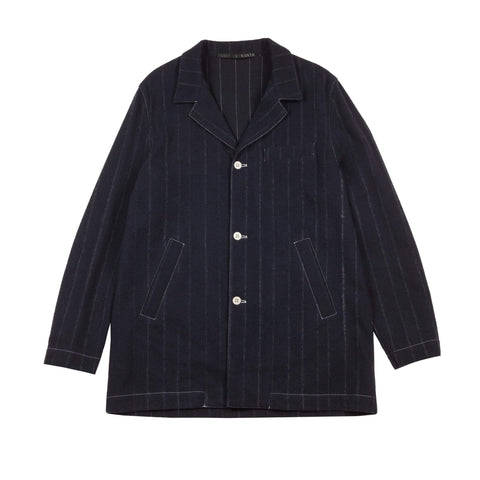 WOOL PINSTRIPE OVERSIZE JACKET 1 of 1