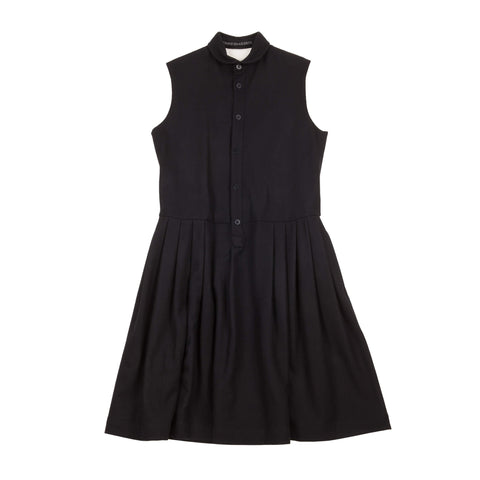 WOOL SLEEVELESS SHIRT DRESS