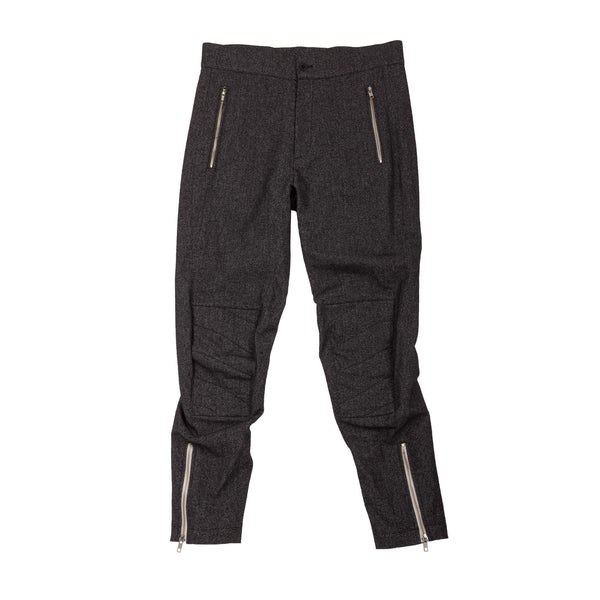 SALT AND PEPPER MOTO TROUSERS
