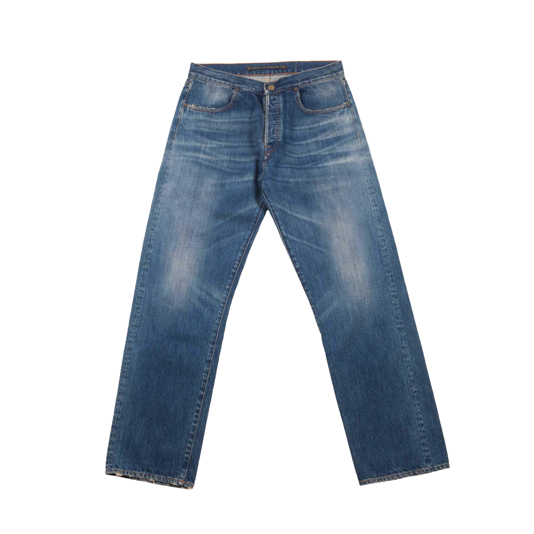 WASHED DENIM TROUSERS