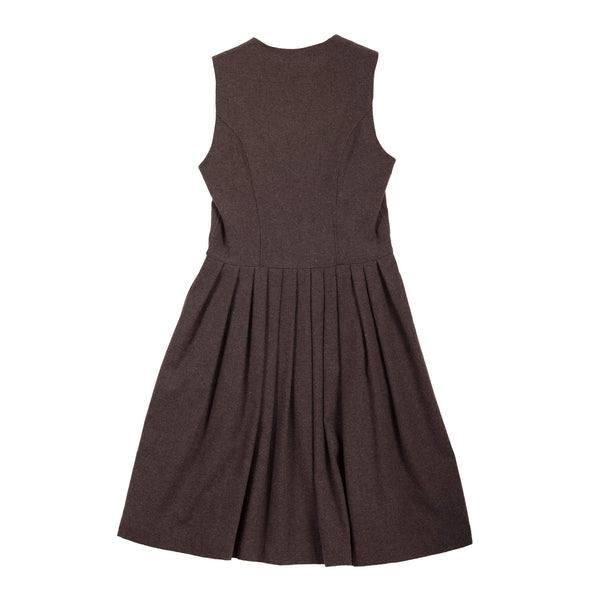 U-NECK MELANGE DRESS