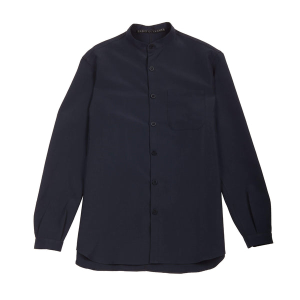 GABARDINE STAND-UP COLLAR SHIRT