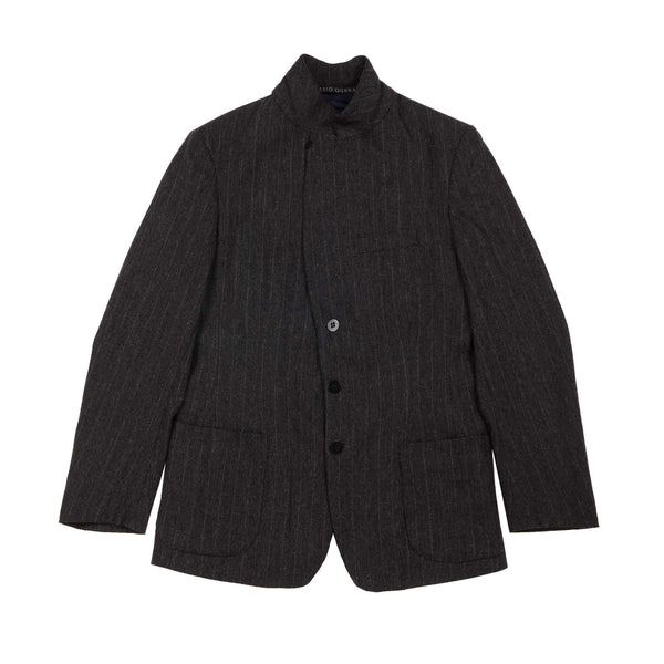PINSTRIPE 4 BUTTONS SUIT JACKET