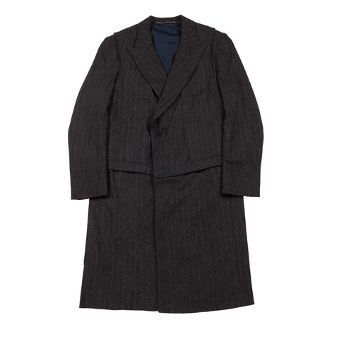PINSTRIPE LAYERED COAT