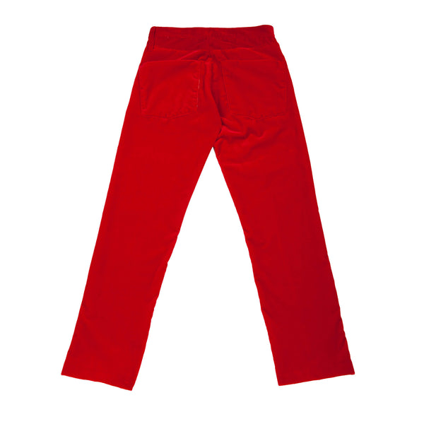 VELVET REGULAR TROUSERS