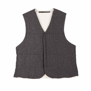 REVERSIBLE DOWN VEST WITH VELCRO