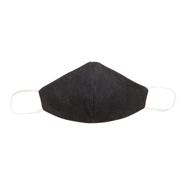 BLACK DENIM SAFETY FACE MASK