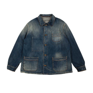 WASHED DENIM WORKER JACKET