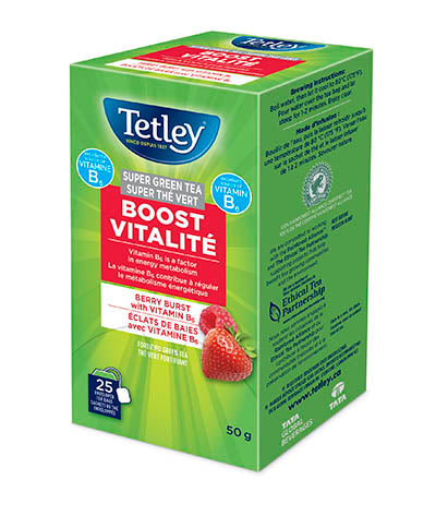 Tetley Super Green Tea Boost - Berry Burst with Vitamin B6