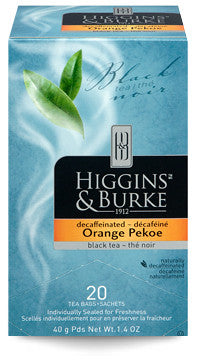 Higgins & Burke Orange Pekoe Decaffeinated Tea Bags