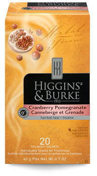 Higgins & Burke Cranberry Pomegranate Herbal Tea Bags