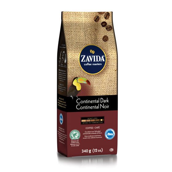 Zavida 12oz Continental Dark Whole Beans