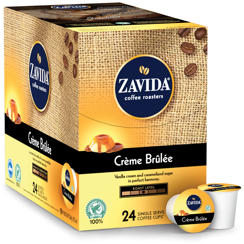 Zavida Creme Brulee Single Serve Coffee 24ct