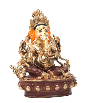 24kt Gold Plated Ganesh Statue