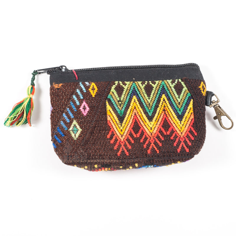 Upcycled Huipil Coin Purse (Guatemala) - Style 2