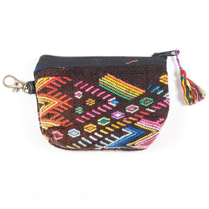 Upcycled Huipil Coin Purse (Guatemala) - Style 4