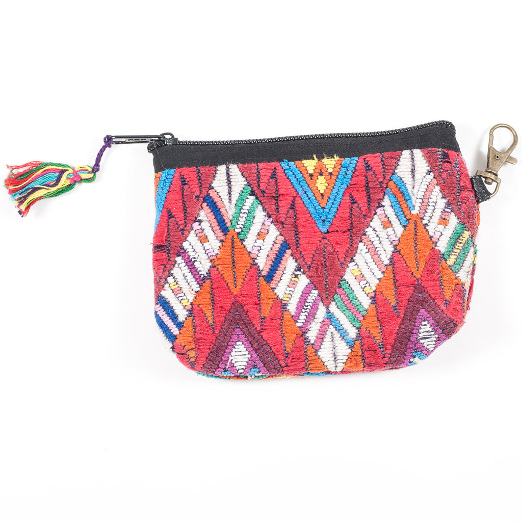 Upcycled Huipil Coin Purse (Guatemala) - Style 6