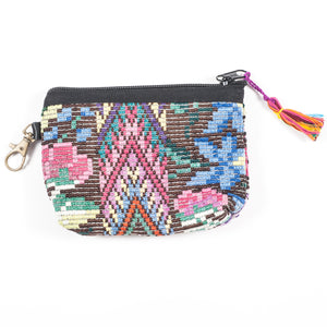 Upcycled Huipil Coin Purse (Guatemala) - Style 7