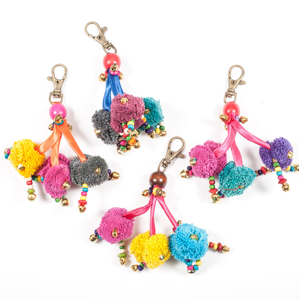 Three Pom-Pom Zipper Pull (Thailand)