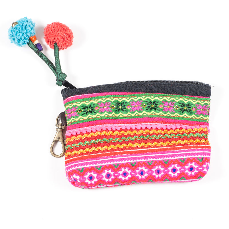 Vintage Hmong Hill Tribe Coin Purse (Thailand) - Style 1