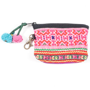 Vintage Hmong Hill Tribe Coin Purse (Thailand) - Style 10