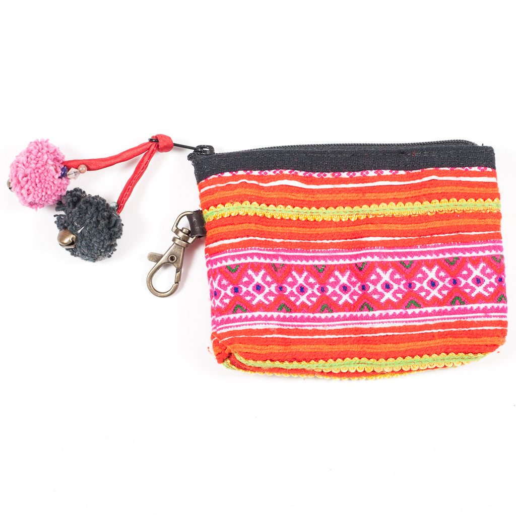 Vintage Hmong Hill Tribe Coin Purse (Thailand) - Style 11