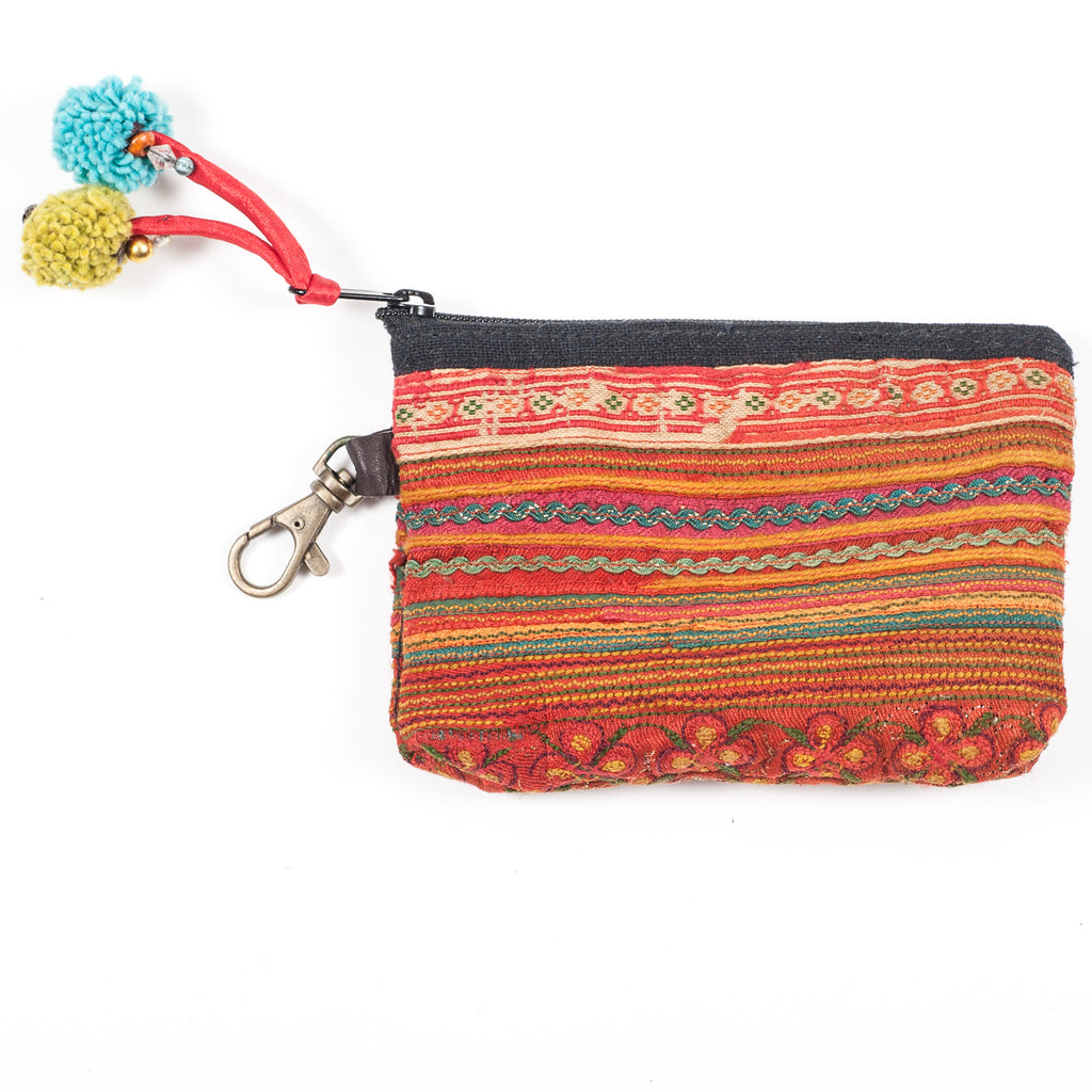 Vintage Hmong Hill Tribe Coin Purse (Thailand) - Style 16