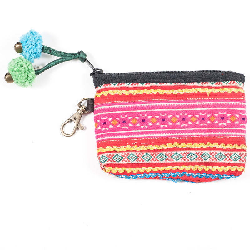 Vintage Hmong Hill Tribe Coin Purse (Thailand) - Style 17