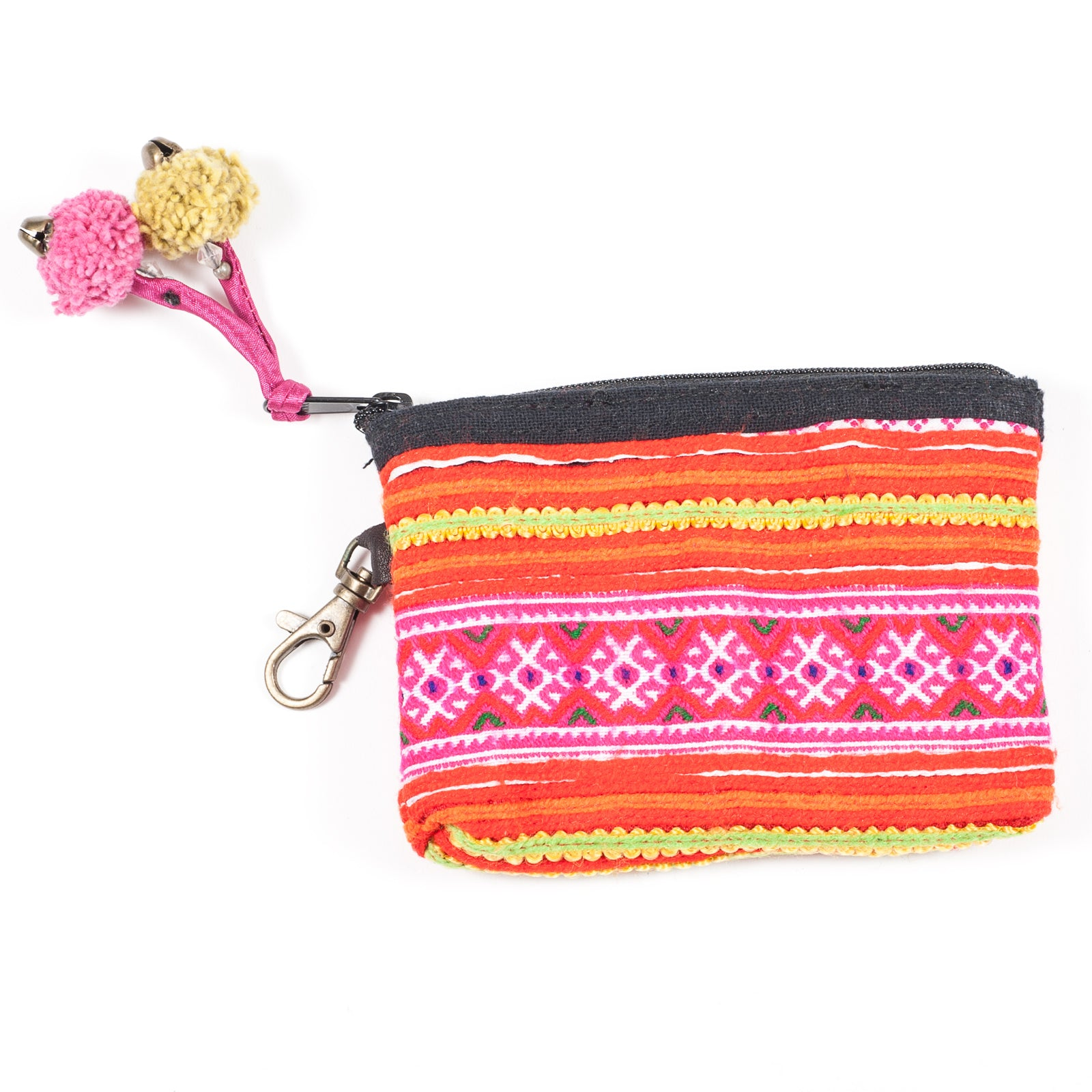 Handmade Tobacco Pouch Hmong Hill Tribe One of a Kind Hippie Boho  Small Tobacco Pouch Leather and vintage embroidery
