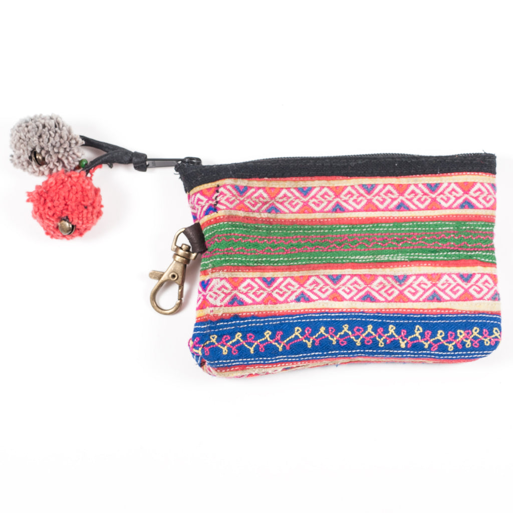 Vintage Hmong Hill Tribe Coin Purse (Thailand) - Style 6