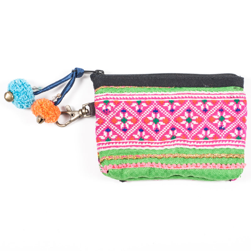 Vintage Hmong Hill Tribe Coin Purse (Thailand) - Style 9