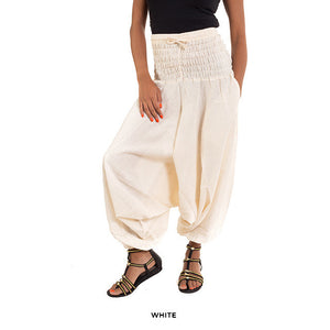 Cotton Yoga Pants - Cream