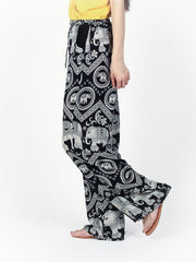 Black Diamond Boho Pants by The Elephant Pants