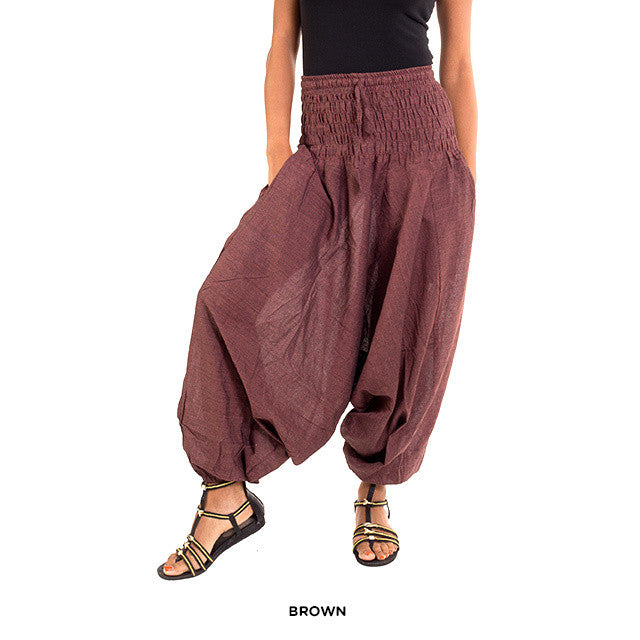 Cotton Yoga Pants - Brown