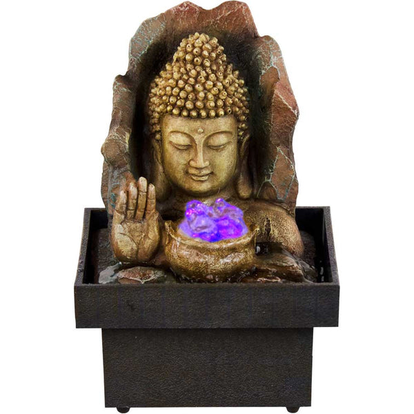 Water Fountain With Buddha Head and Hand Emerging from Water