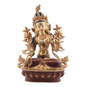 24kt Gold Plated White Tara Statue