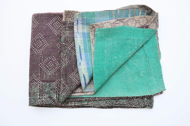 Hand Crafted Vintage Kantha Throw B
