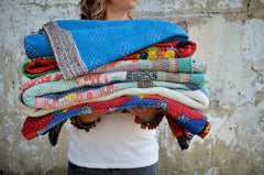 Hand Crafted Vintage Kantha Throw D