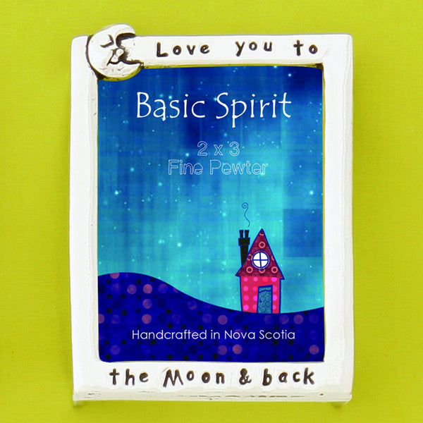 "Mini Pewter Picture Frame - ""Love You To The Moon And Back"""