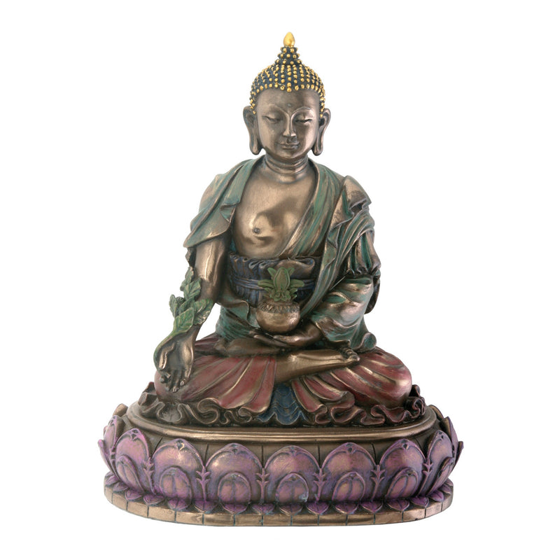 Bronze Finish Medicine Buddha Meditation Statue