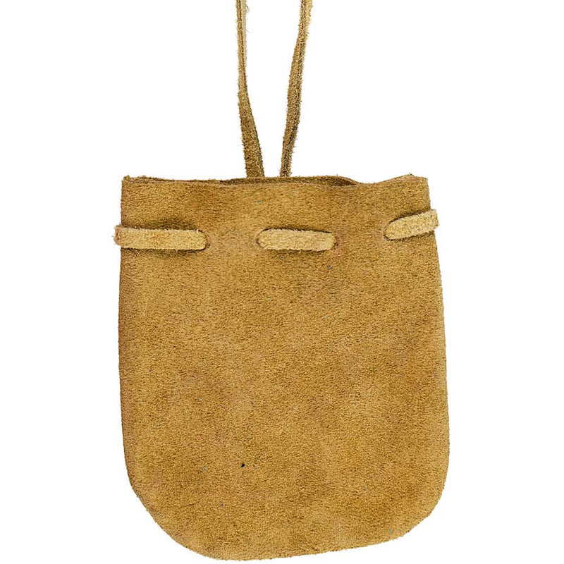 Suede Medicine Bag and Crystal Pouch