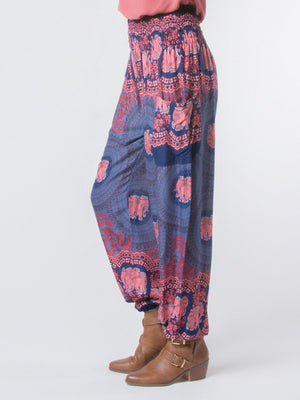 Nellie Dark Blue Harem Pants by The Elephant Pants