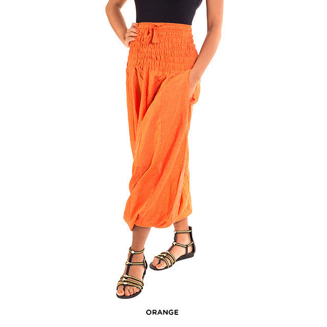 Cotton Yoga Pants - Orange