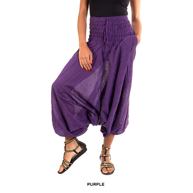 Cotton Yoga Pants - Purple