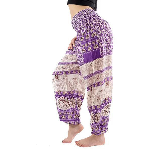 Purple Elephant Yoga Pants