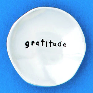 "Pewter Trinket Dish ""Gratitude"" - small"